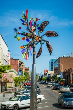 Pinwheel public art in downtown Vancouver Photo Source: City of Vancouver